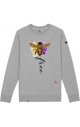 Bee Free Felpa Girocollo