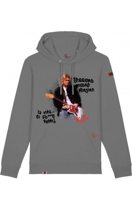 Kurt Cobain Felpa Cappuccio